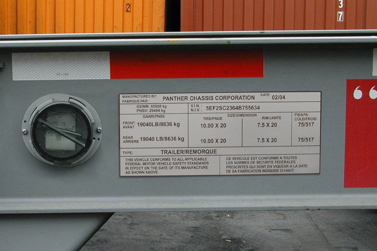 Metal ID Tags for Trailers Made with Ultra-Durable AlumaTough Metal