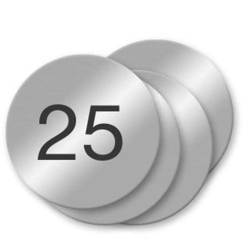 Metal Number Tags with Adhesive Baker, Ultra-Durable Aluma-Tough is stronger than stainless steel