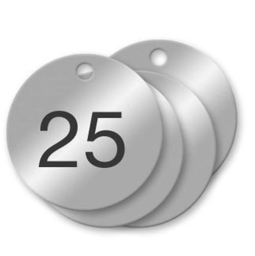 Numbered Metal Tags with Holes, Ultra-Durable AlumaTough Metal is stronger than stainless steel