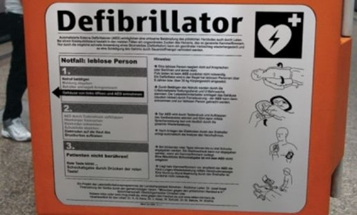 AED Instruction Labels Made of Durable Metal